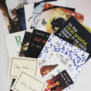 kaarten, signed, boekenleggers