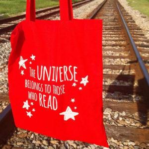 universe, tote bag, read, lezen